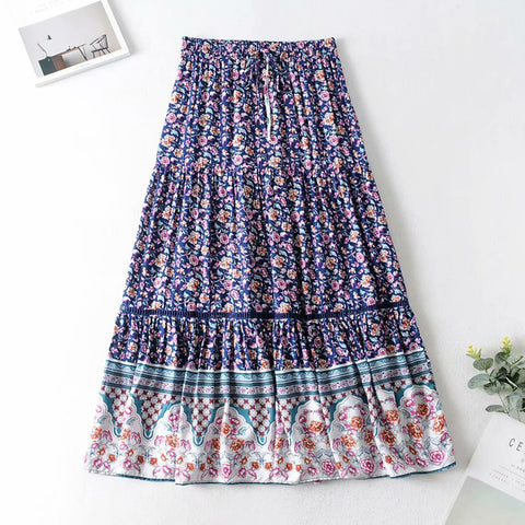 Bohemian Style Gypsy Casual Beach Skirts