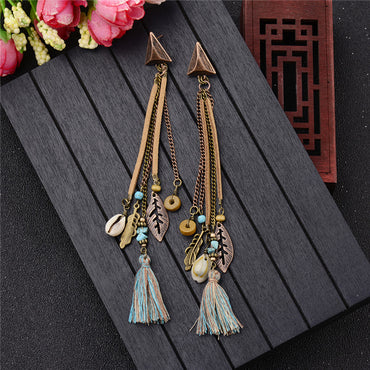Bohemian Elegant Long Drop Earrings