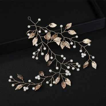 Laurel Leaf Gold Grecian Wedding Tiara Headband