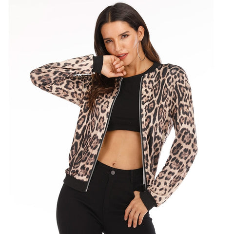Rose Leopard Jackets