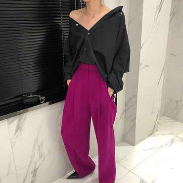 High Waist Causal Loose Wide Leg Pants
