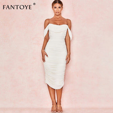 Sexy Double Layer Off Shoulder Party Dress