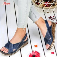 Peep-toe Wedge Comfortable Sandals