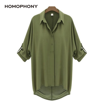 Turn-down Collar Button Simple Elegant Shirts