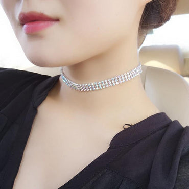 Rhinestone Choker Necklace