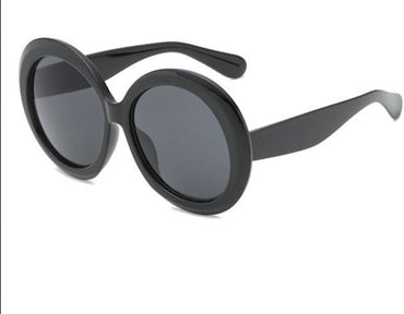 Big Frame Black Green Double Color Sunglasses