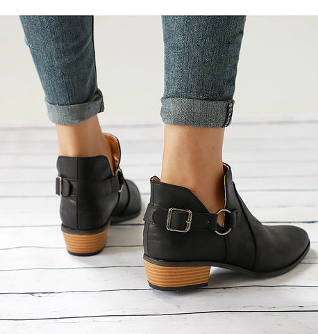 genuine leather Cossacks ankle boots