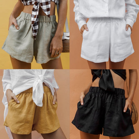 linen casual shorts