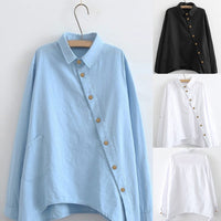 Casual Fashion Solid Color Long Sleeve Blouses