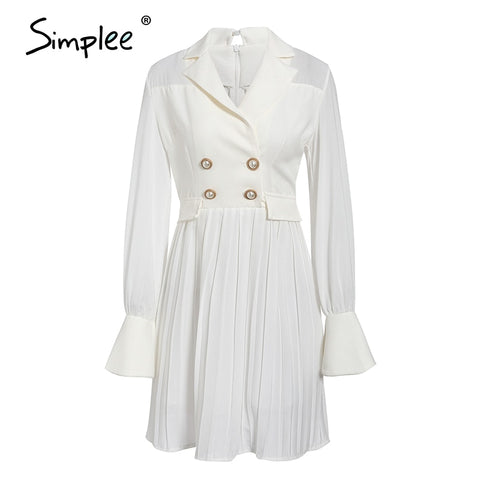 Vintage pleated blazer dress