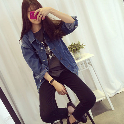 Full Sleeve Casual BF Denim Jeans Jacket
