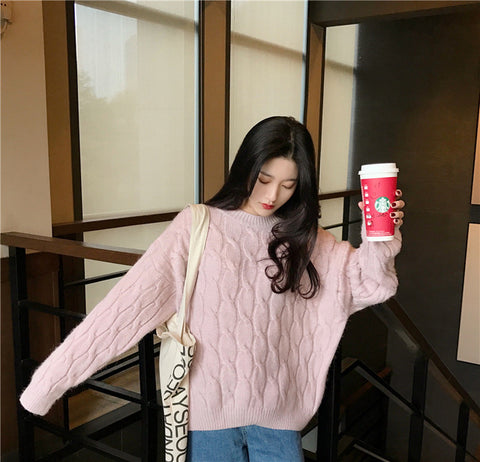 Elegant Knitted Outerwear Warm Sweater