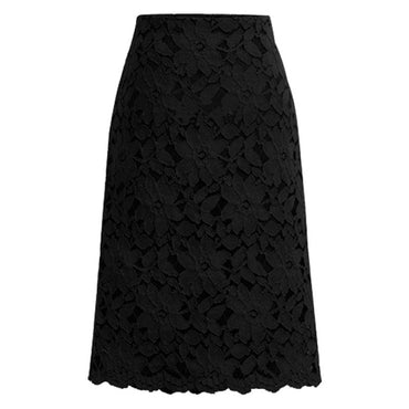 lace hollow high waist loose A-line Bodycon skirt