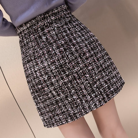 Tweed Half-length Skirt