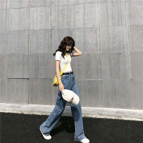 New Style High-waistedloose and full of jeans