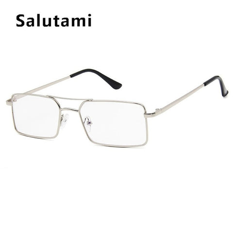 Alloy Metal Small Frame Clear Double Bridge Sun Glasses
