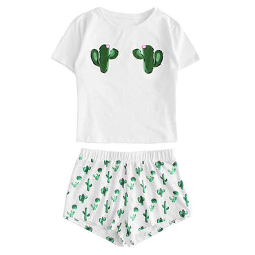 Cactus Printed Pajamas Set