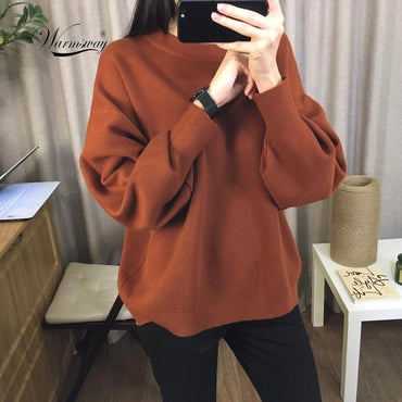 Oversized Knitted Cashmere Blend Sweater
