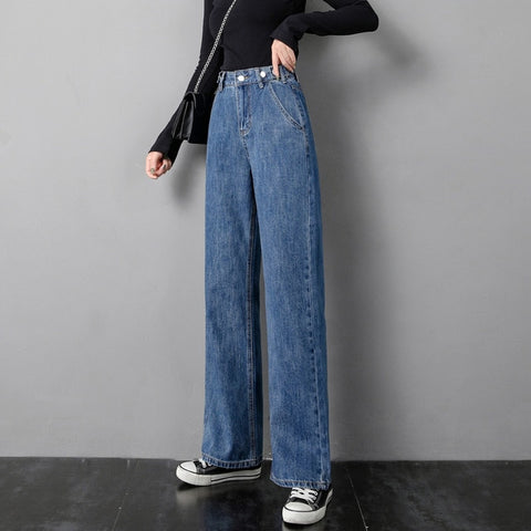 Casual Loose Wide Leg Jeans