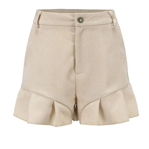 Zipper Button Shorts