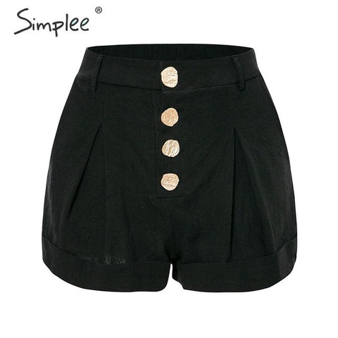 Solid black soft streetwear shorts