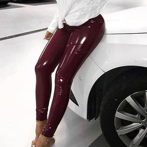 PU Leather Legging Pants