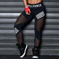 High Waist Mesh Pacthwork Sports leggings