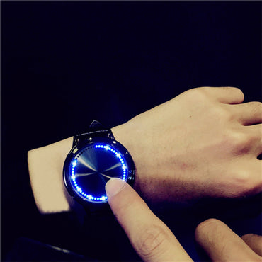 Unique Blue LED Luminous Touch Screen Watch