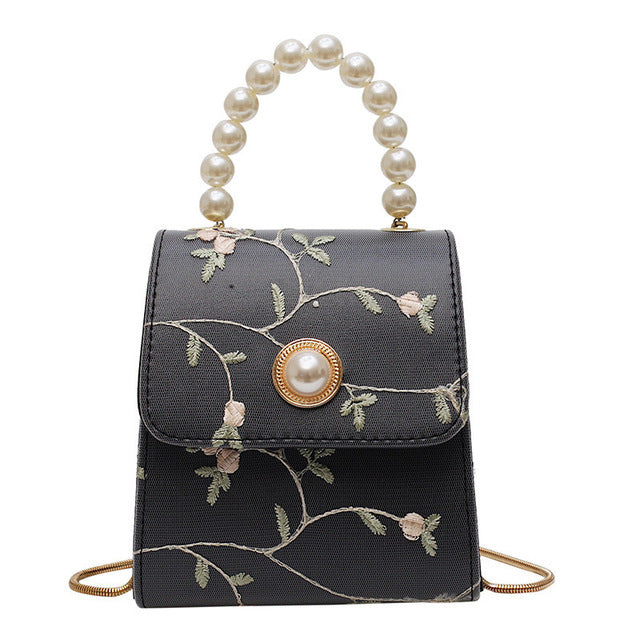 Pearl Leather Crossbody Bags