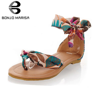 Soft Casual Flower Print Sandals