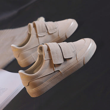 Solid Color Low Suede Leather Shoes