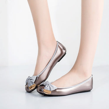 Sweet Casual Bow-knot Round toe Flat Shoes