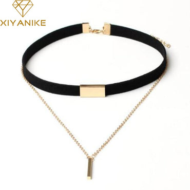 New Black Velvet Choker Necklace