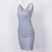 Bandage Slim Bodycon Party Cocktail Split Mini Dress