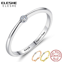 Round Zirconia Crystal Finger Rings