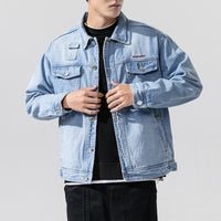 Stand Collar Casual Jeans Jacket