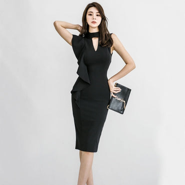 New Fashion party slim black Dresses