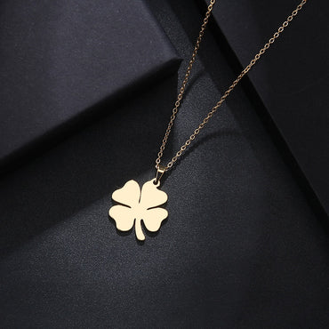 Clover Gold And Silver Color Pendant Necklace