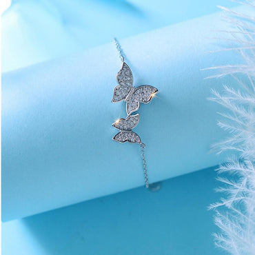 Fashion Sweet Zircon Butterfly Bracelets & Bangles