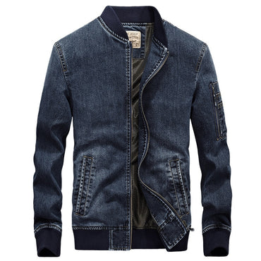 stand collar 100% cotton outerwear jean jacket
