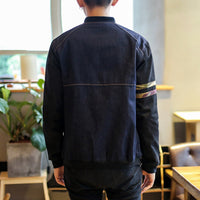 Loose Stand Collar Baseball Jacket