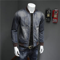 Stand Collar Denim Jacket