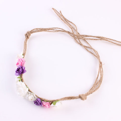 rope knot crown flower headband