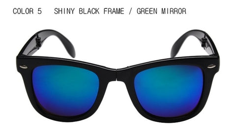 Colorful Mirror Folding Sunglasses