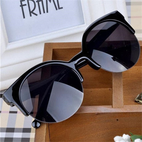 Retro Designer Super Round Circle Sunglasses