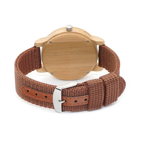 Nylon Straps Bamboo Wood Watches