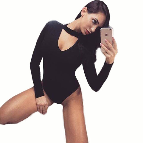Deep V Neck Bodycon Body Suit