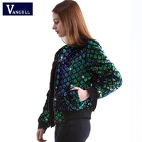 Sequin Green Bomber Jacket