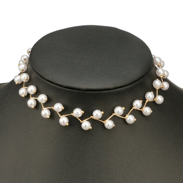 Simulated-pearl Chokers Necklace