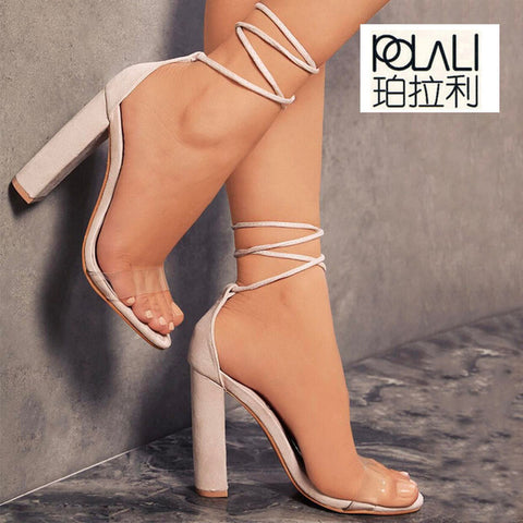 T-stage Clear High Heel